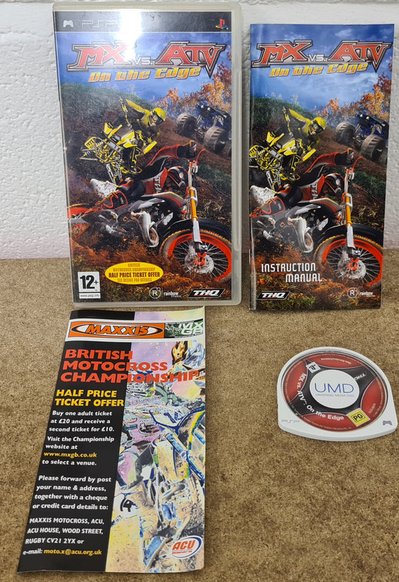 MX Vs ATV On the Edge Sony PSP Game