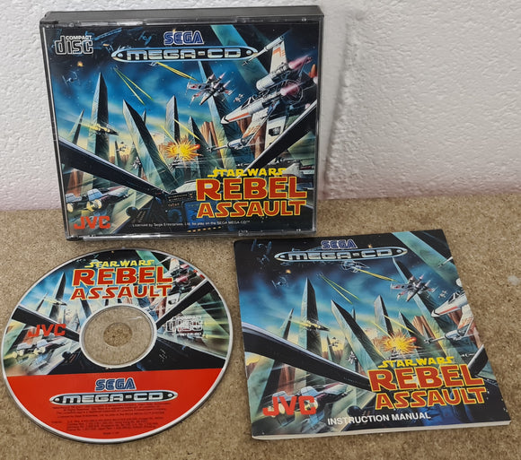 Star Wars Rebel Assault Sega Mega CD Game