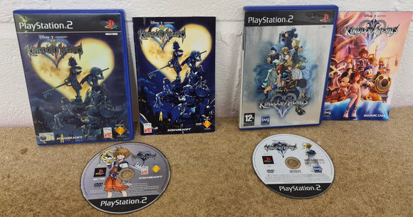 Kingdom Hearts 1 & 2 Sony Playstation 2 (PS2) Game Bundle