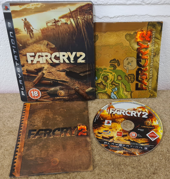 Far Cry 2 with Map Steel Case Sony Playstation 3 (PS3) Game