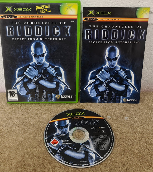 The Chronicles of Riddick Escape from Butcher Bay Microsoft Xbox Game