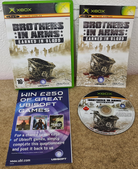 Brothers in Arms Earned in Blood Microsoft Xbox Game