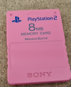 Pink 8MB Memory Card Sony Playstation 2 (PS2) Accessory