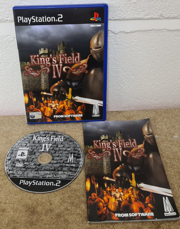 King's Field IV Sony Playstation 2 (PS2) RARE Game