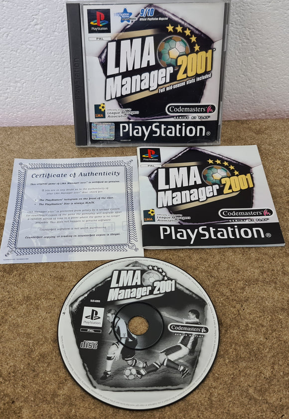 LMA Manager 2001 Sony Playstation 1 (PS1) Game