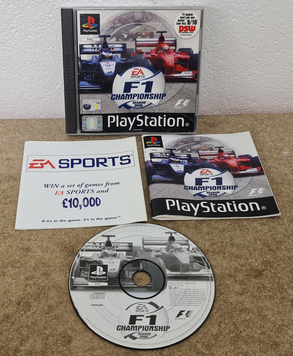 F1 Championship Season 2000 Sony Playstation 1 (PS1) Game