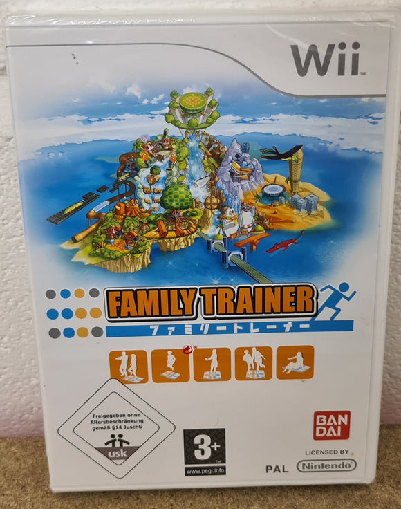 Brand New and Sealed Family Trainer Nintendo Wii Game