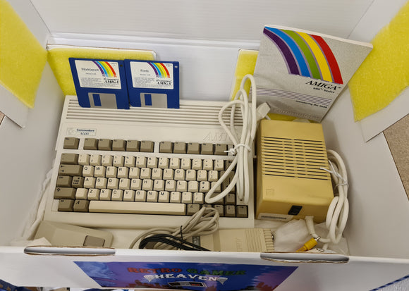 Commodore Amiga A600 Console in a Custom Made Box