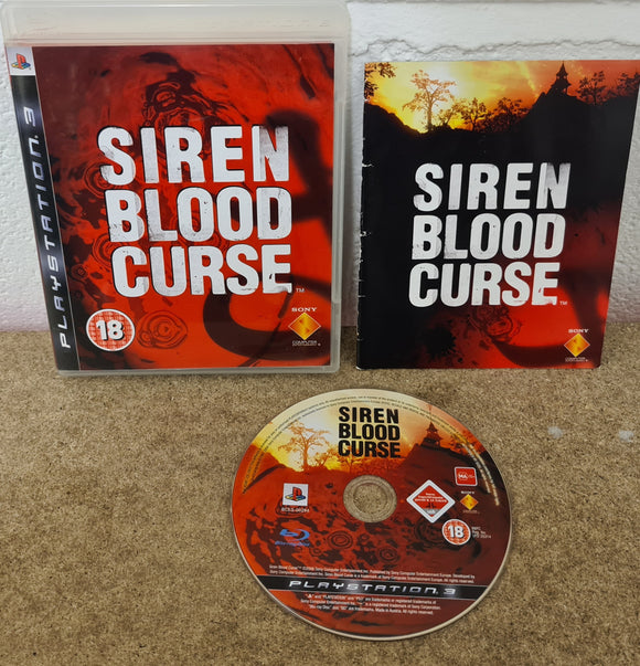 Siren Blood Curse Sony Playstation 3 (PS3) Game