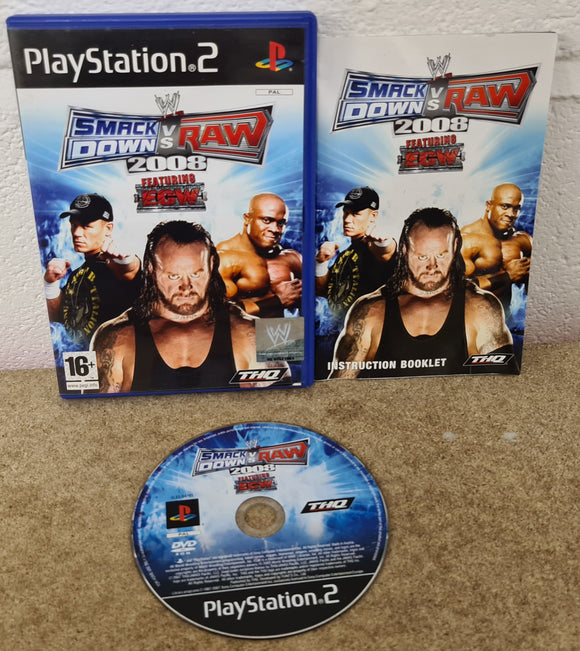 WWE Smackdown VS Raw 2008 Sony Playstation 2 (PS2) Game