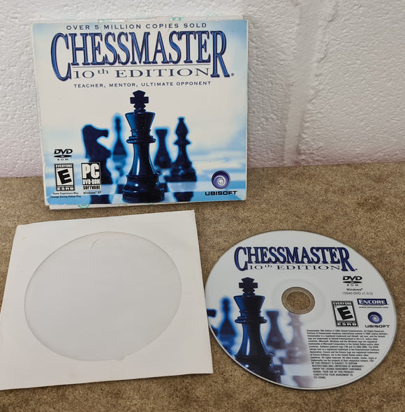 Chessmaster 10th Edition PC Game in RARE Card Case