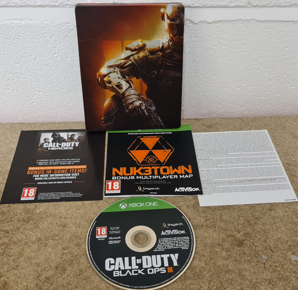 Call of Duty Black Ops III in RARE Steel Case Microsoft Xbox One Game