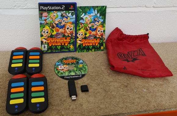 Buzz Junior Jungle Party with Wireless Buzz Controllers Sony Playstation 2 (PS2) Game & Accessory
