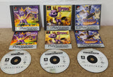 Spyro the Dragon 1 - 3 Sony Playstation 1 (PS1) Game Bundle