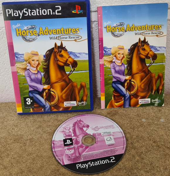 Barbie Horse Adventures Wild Horse Rescue Sony Playstation 2 (PS2) Game