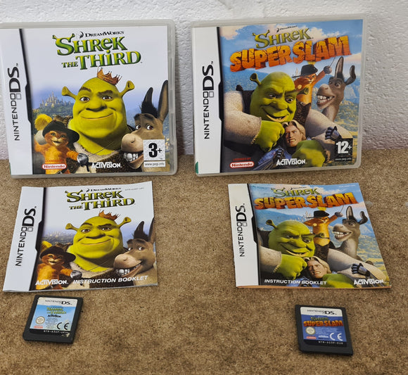 Shrek the Third & Superslam Nintendo DS Game Bundle
