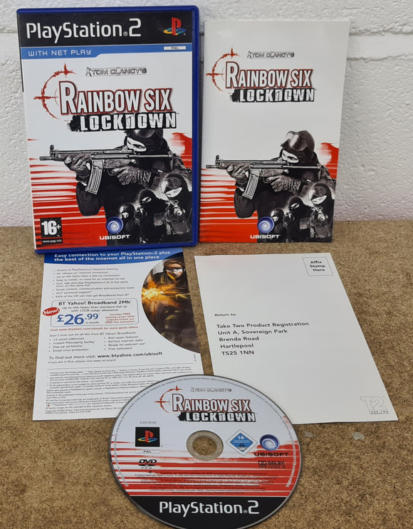 Tom Clancy's Rainbow Six Lockdown Sony Playstation 2 (PS2) Game