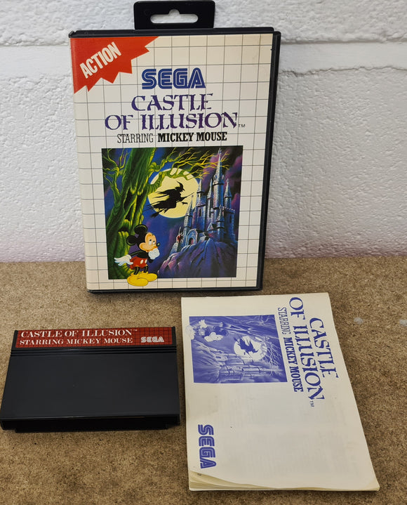 Castle of Illusion Starring Mickey Mouse Sega Master System Game