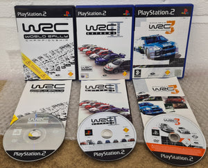 WRC 1 - 3 Sony Playstation 2 (PS2) Game