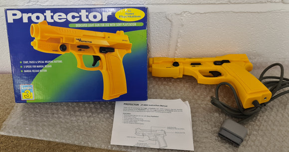 Boxed Logic 3 Protector Light Gun for Die Hard Sony Playstation 1 (PS1) Accessory