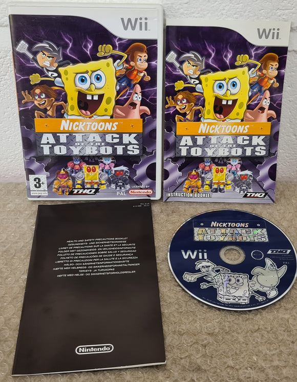 Nicktoons Attack of the Toybots Nintendo Wii Game
