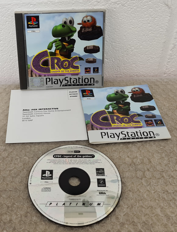 Croc Legend of the Gobbos Platinum Sony Playstation 1 (PS1) Game