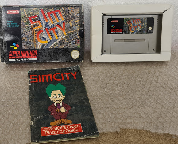 SimCity Super Nintendo Entertainment System (SNES) Game
