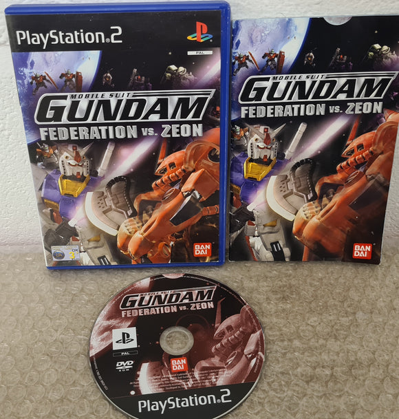 Mobile Suit Gundam Federation Vs Zeon Sony Playstation 2 (PS2) Game
