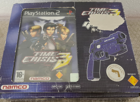 Boxed Time Crisis 3 + G-Con 2 Sony Playstation 2 (PS2) Game & Accessory