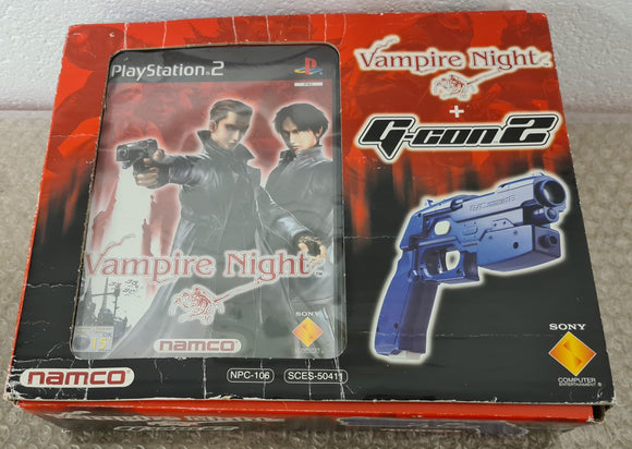 Boxed Vampire Night + G-Con 2 Sony Playstation 2 (PS2) Game & Accessory