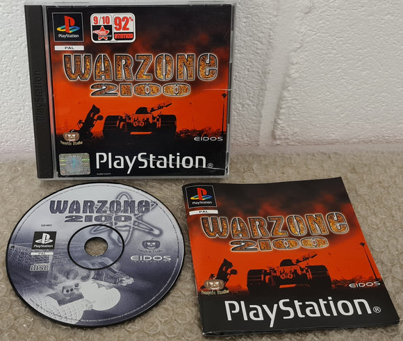 Warzone 2100 Black Label Sony Playstation 1 (PS1) Game