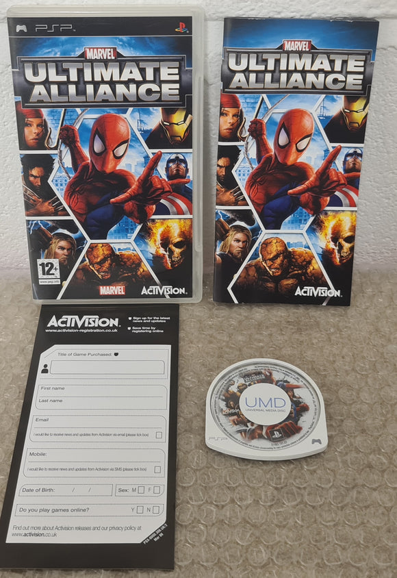 Marvel Ultimate Alliance Sony PSP Game