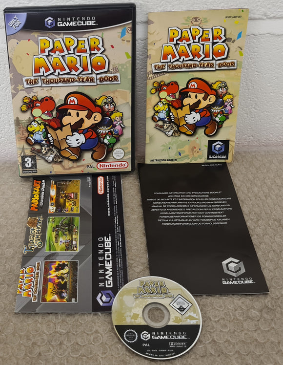 Paper Mario the Thousand-Year Door Nintendo GameCube Game
