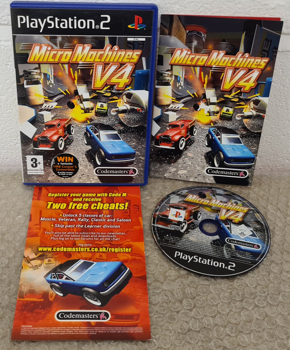 Micro Machines V4 Sony Playstation 2 (PS2) Game