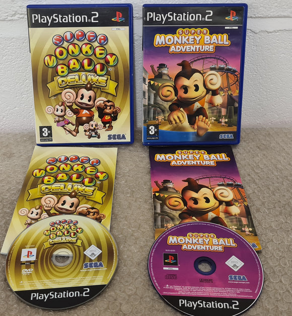 Super Monkey Ball Adventure & Deluxe Sony Playstation 2 (PS2) Game Bundle