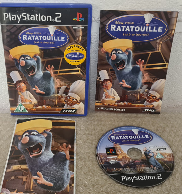 Ratatouille with Sticker Sony Playstation 2 (PS2) Game