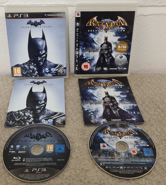 Batman Arkham Origins & Asylum Sony Playstation 3 (PS3) Game Bundle
