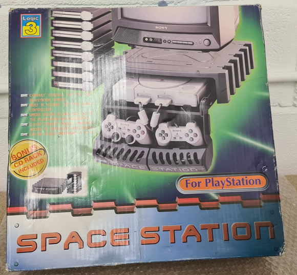Logic3 Boxed Space Station Storage Unit Sony Playstation 1 (PS1) Accessory