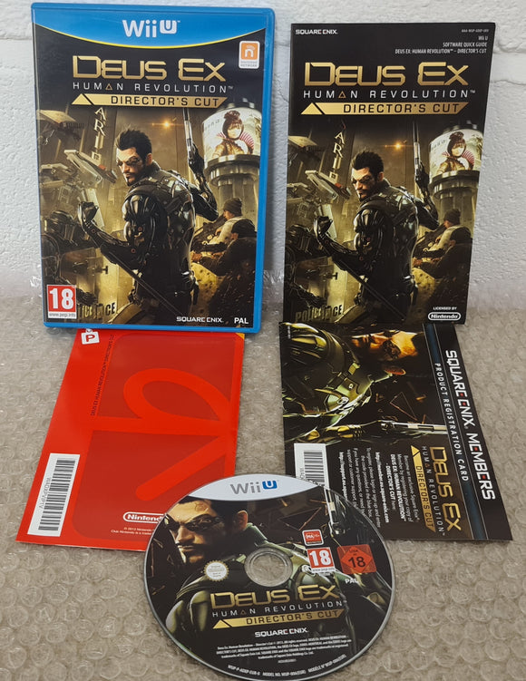 Deus Ex Human Revolution Director's Cut Nintendo Wii U Game