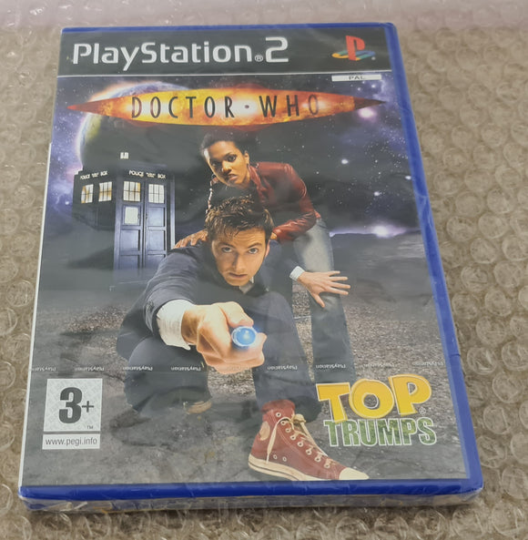 Brand New and Sealed Top Trumps Doctor Who Sony Playstation 2 (PS2) Game