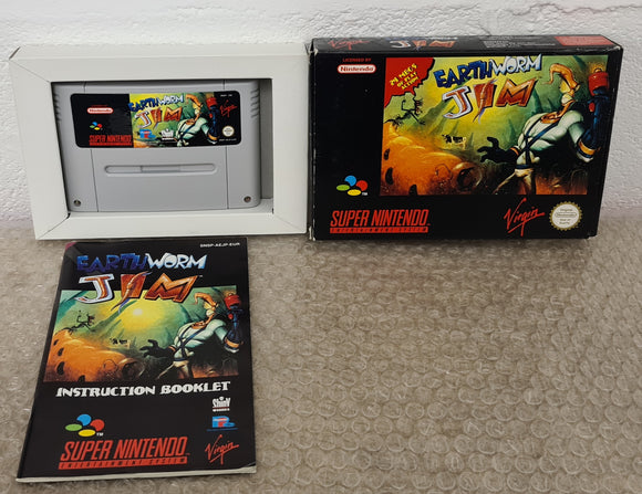 Earthworm Jim Super Nintendo Entertainment System (SNES) Game