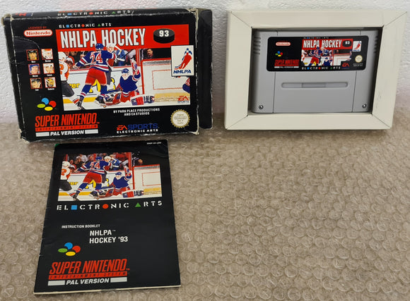 NHLPA 93 Super Nintendo Entertainment System (SNES) Game