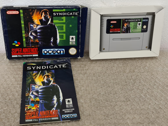 Syndicate Super Nintendo Entertainment System (SNES) Game