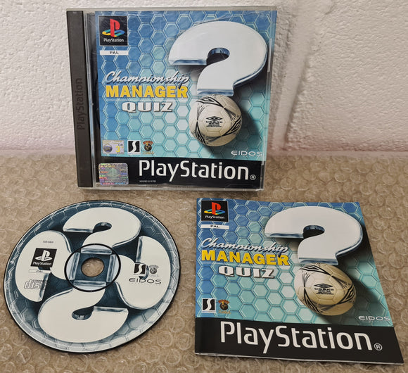 Championship Manager Quiz Sony Playstation 1 (PS1) Game