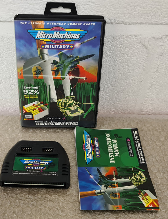 Micro Machines Military J Cart Mega Drive Game