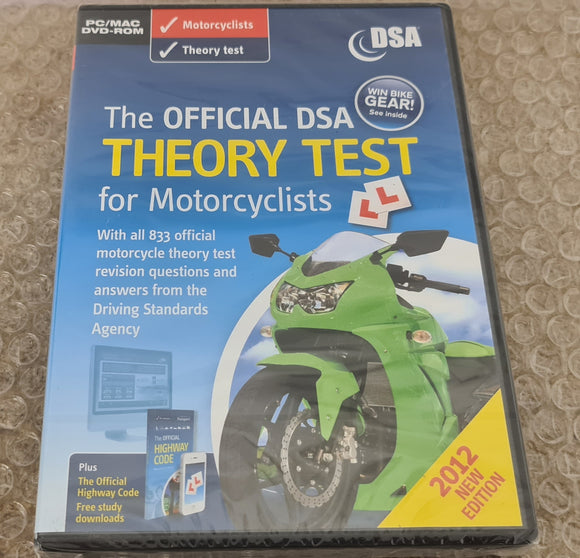 Brand New and Sealed The Official DSA Theory Test for Motorcyclists PC Game