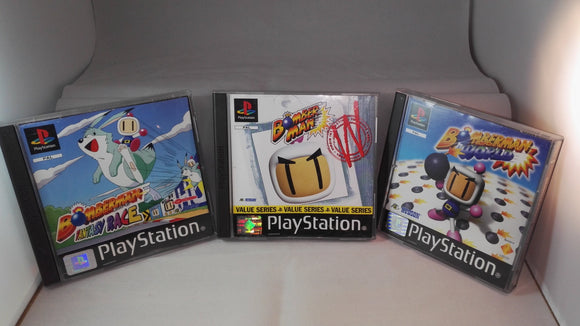 Bomberman: 1, World & Fantasy Race PS1 (Sony Playstation 1) game bundle