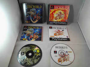 Discworld & Discworld II Missing Presumed PS1 (Sony Playstation 1) game bundle