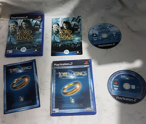 Lord of the Rings: Fellowship and Two Towers PS2 (Sony Playstation 2) game bundle