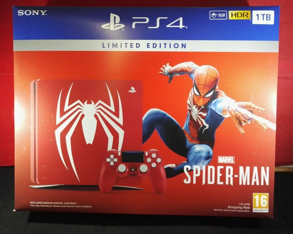 Brand New Limited Edition Spiderman PS4 (Sony Playstation 4) 1TB Console